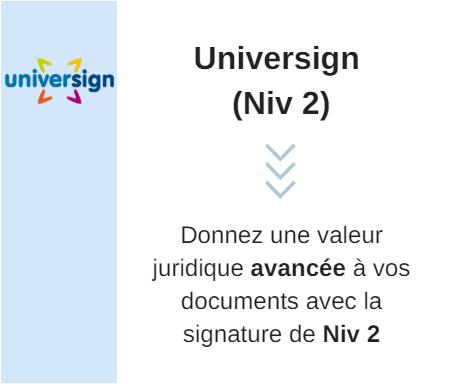 Universign Niveau 2