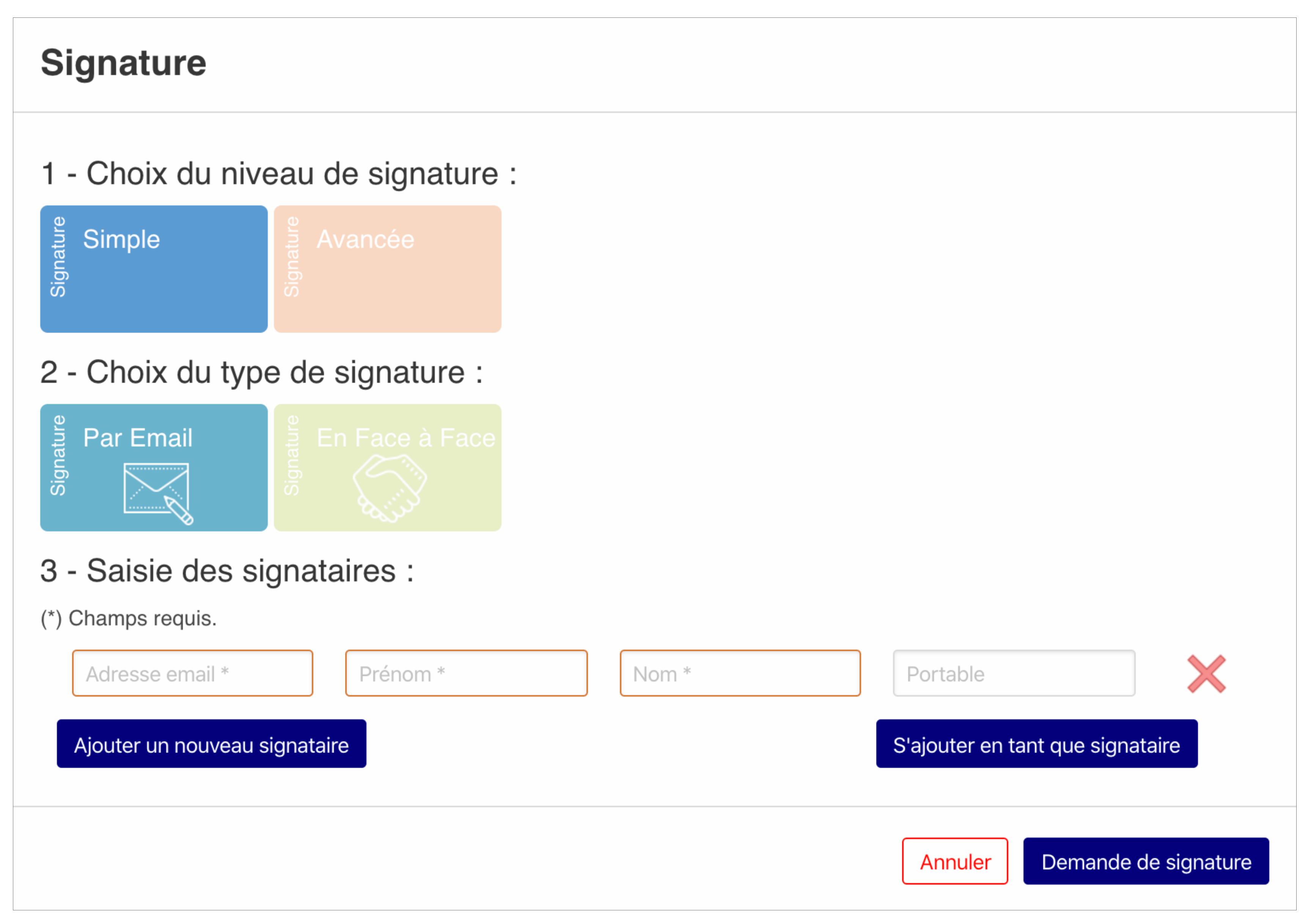 Plateforme de la solution de signature électronique