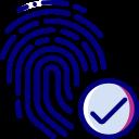 Icône empreinte pour l'authentification de la signature