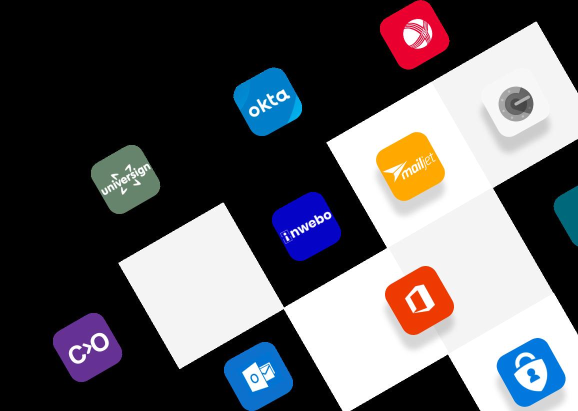 Interface avec des icônes d'application