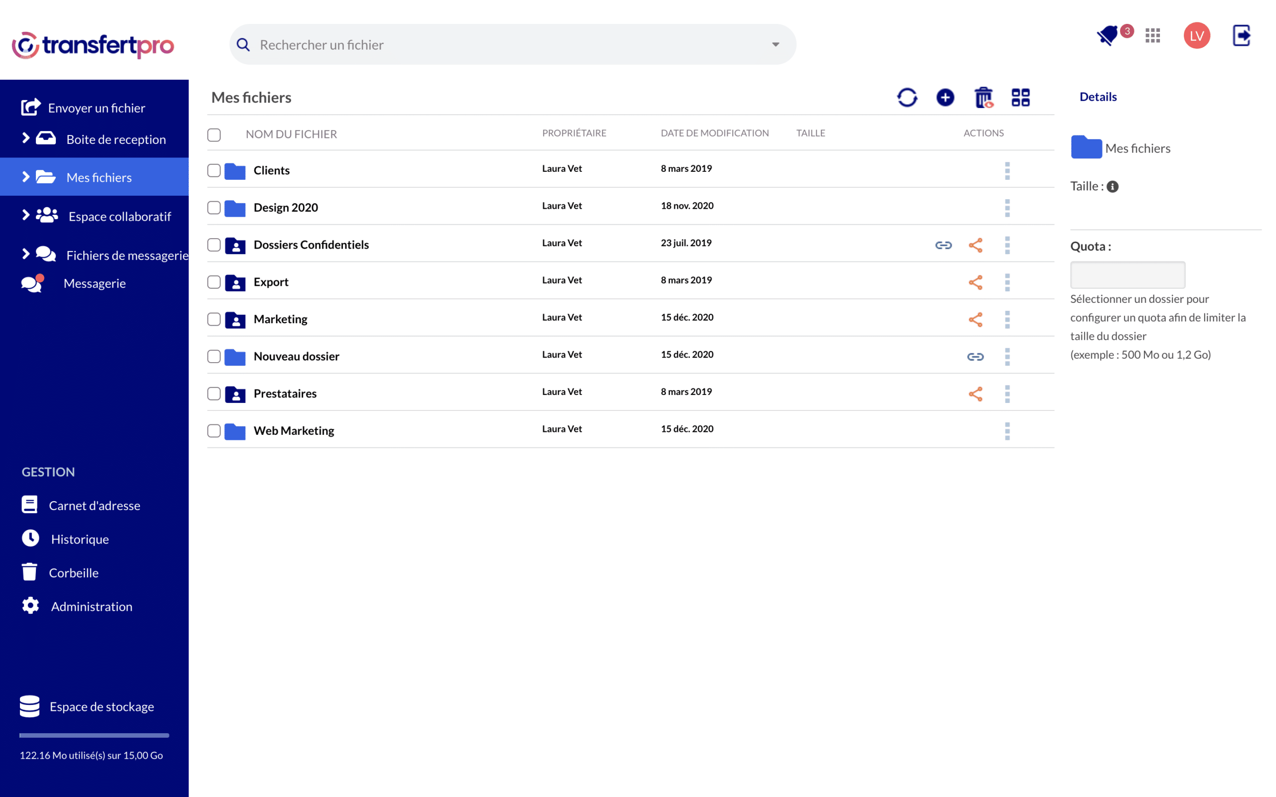 interface de partage et collaboration tbox