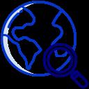 Localisation Datacenter Icône Bleu