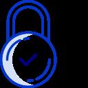 Sécurité Icône bleu