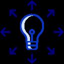 Agilité Icône Ampoule Bleu